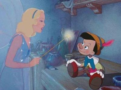 COMPLETE THE QUOTE : Now, _________, Pinocchio, be a good boy. And always let your conscience be your guide.
