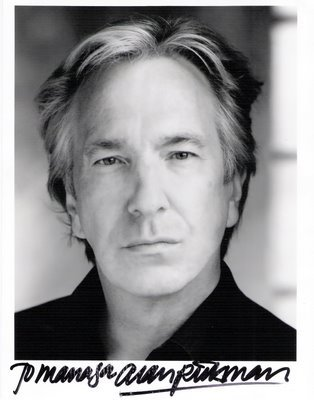 What Alan Rickman love to do?