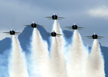 What colour angel is the name of this US Navy flight demonstration squadron team ?