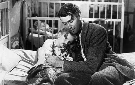 James Stewart is visited by an angel in this film,Which film is it ?