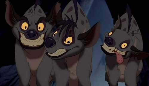 How are the three hyenas related.