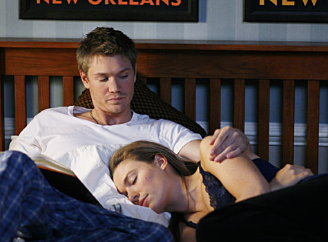 What does Haley tell Lucas in this scene?