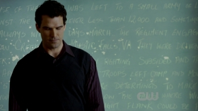 In this scene, the teacher, Mr. Tanner, is questioning the students about the Battle of _____ Creek, in which Stefan knows a great deal about.