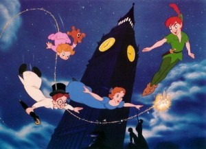 What are the names of the three Darling children in Peter Pan?