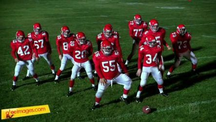Preggers: What are the football team dancing to?