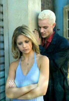 What are Spike's first words to Buffy?