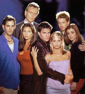 Buffy Math: Angel appeared in all but one season, subtract this season number away from Buffy's house number.