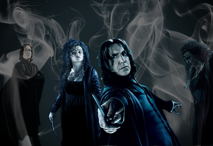 The actors who play Snape, Bellatrix and Wormtail also have which of the following فلمیں in common?