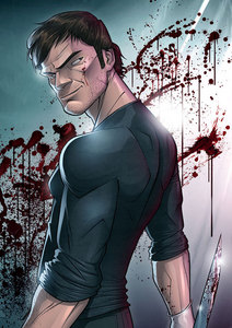 What was the name of the comic book character based on Dexter's slayings?