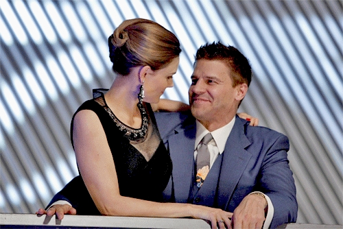 True or False: Booth & Brennan are about to share their first kiss?