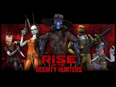 Which is NOT a bounty hunter pictured below?