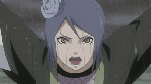 what was konan doing in this scene?