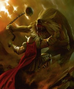Which mythical creature is the immortal enemy of the werewolf?