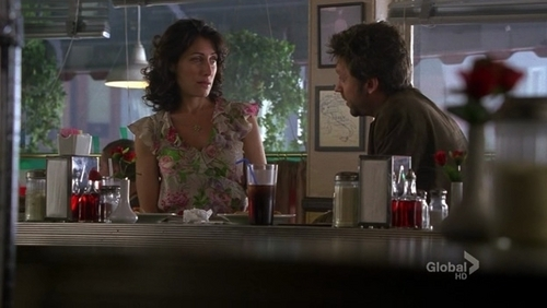 "What were Lucas and Cuddy eating on their ""date""?"