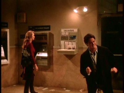 Which Victoria's Secret Model was Chandler trapped in an ATM vestibule with?