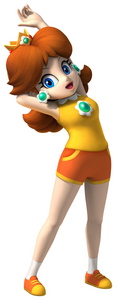 in mario and sonic at the olympic game what type of character is daisy