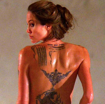 How many Tattoos does Angelina Have as of July 2008? since we don't know if she might get more.