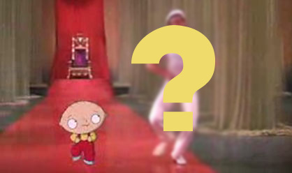 What famous actor/dancer does Stewie dance with in 'Road to Rupert'?