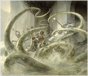 Outside the west gate of Moria was the Watcher in the water. When did this creature appeared there for the first time?