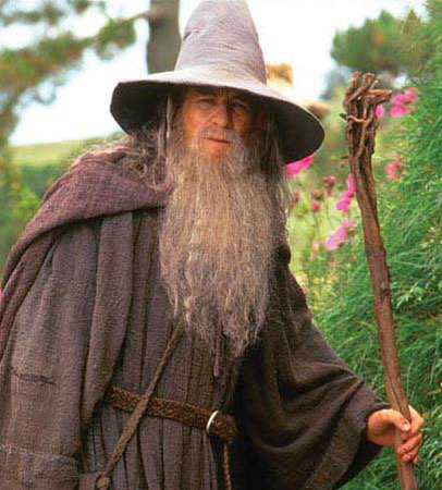 What is the rank of Gandalf the Grey, in power, within the Order of wizards?