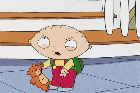 What does Stewie think his phone number is in 'Road to Rhode Island'?
