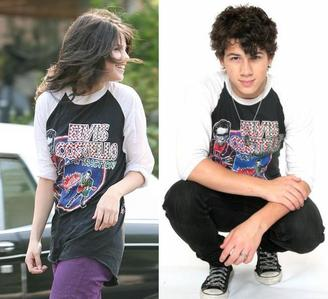 True au False: Nick does let Selena borrow his clothes