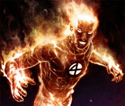 Who raised Johnny Storm (the Human Torch)?