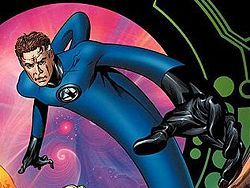 Who did Reed Richard's (Mr. Fantastic) first battle in the Fantastic Four?