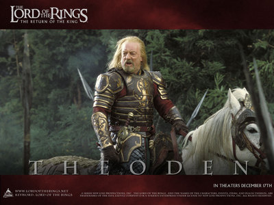 How did King Theoden come to his end?