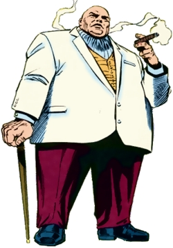 What kind of armor does the Kingpin wear underneath his clothing?