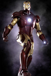 What was the name of the weapon that projected from Iron Man's palms?