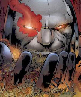 Which character won in the ファン determined battle between Darkseid and Apocalypse?