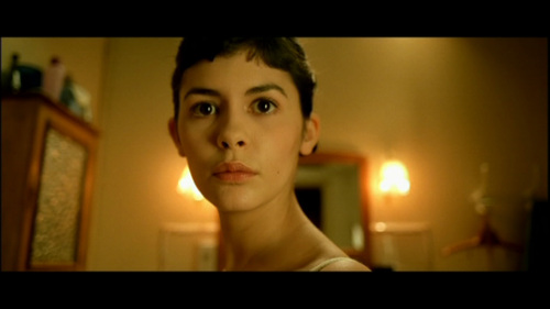 What is the predominant color of Amelie's apartment?