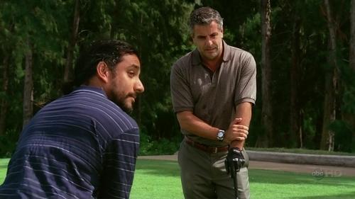 Sayid plays Golf _____.