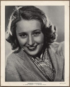 What name was Barbara Stanwyck born with?