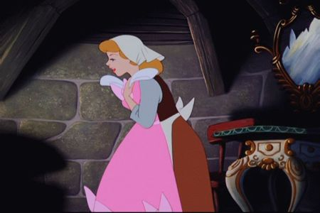 When the mice surprise Cinderella with her dress what does Gus say?