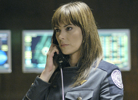 Which actress turned down the role of Admiral Helena Cain before Michelle Forbes was approached?