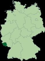 What is the name of the dark green state?