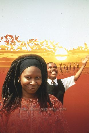 What is the name of the person Whoopi Goldberg played in the movie Sarafina?