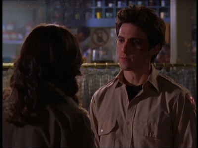 What was the excuse Jess gave Rory for his black eye in Season 3?