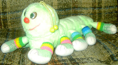 Name that toy! This cute little critter is about half the length of the full-sized toys available in this toy line. What were they all called?