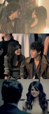 True or False: Nick and Selena sat next to each other on the bus ride to the DC Games?