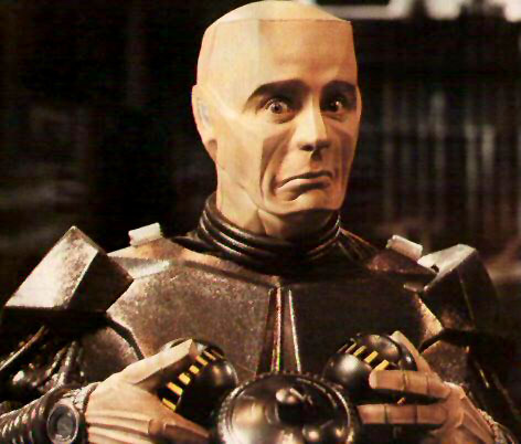 In 'Rimmerworld', what does Kryten give Rimmer to relieve his stress?