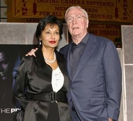 What is the name of Michael Caine's wife?