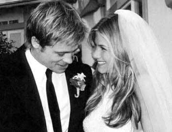 He married Jennifer Aniston in which month and year?