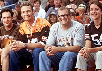 How do the gang get into the Browns game?