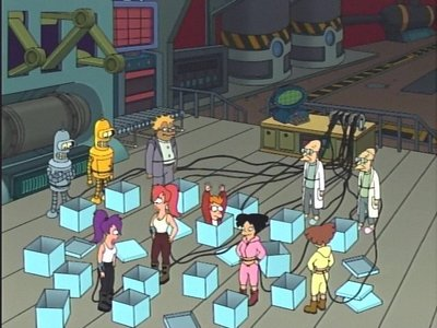 What was NOT a suggestion for a name for the parallel universe in 'Farnsworth Parabox'?