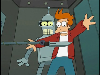 In the pilot episode, why is Bender trying to kill himself using a suicide booth?