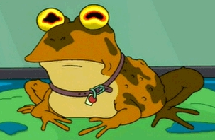 What is the name of the television show that features Hypnotoad?