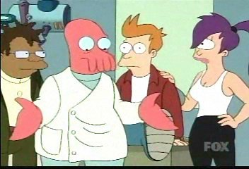 What does Zoidberg get from Planet Express on his 10-year anniversary?
